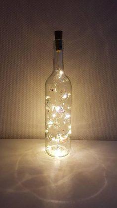 Light Chain, Bottle Lights, Zen, Meditation, Hand Painted, Etsy Shop, Make It Yourself, Decor, Wine Bottles