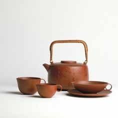 Home Decor Objects Ideas : Lucie Rie, teapot and jug, earthenware, height (teapot) width (teapot) made in Vienna, about Museum no. Pottery Teapots, Ceramic Teapots, Ceramic Pottery, Pottery Art, Ceramic Tableware, Kitchenware, Earthenware, Stoneware, Potters Clay
