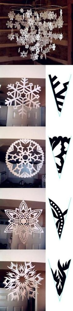 """Snowflake Paper Patterns DIY Christmas by dresdenfan"" I've always wanted to learn how to make snowflakes! Awesome!"