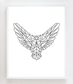8x10 Geometric Owl Wall Art Print