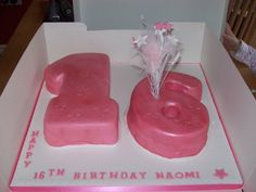 16 th birthday cake I did