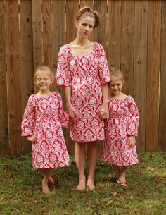 Mother daughter matching Christmas dresses by sweethomeboutique,