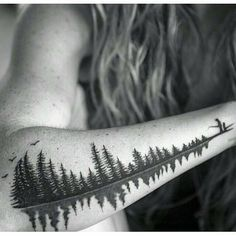 """At first this would just seem like a cool tattoo of some nature. I fact this is a soundwave of a father saying the word ""Babydoll"" to his daughter. A…"""