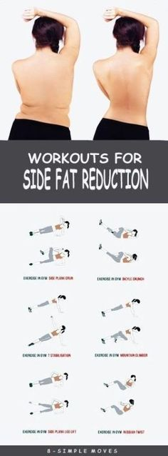 8 Effective Exercises To get rid of Side Fat. by trisha 8 Effective Exercises To get rid of Side Fat. by trisha Fitness Workouts, Fitness Motivation, Easy Workouts, Fitness Diet, At Home Workouts, Health Fitness, Workout Routines, Workout Plans, Side Workouts