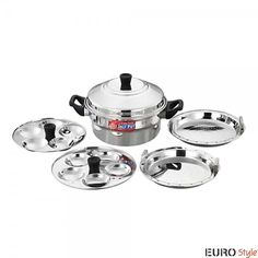 eee50331625 Eurostyle Idli Cookers  Buy Eurostyle Stainless Steel Idli Cooker and  steamer Compact-10 Online