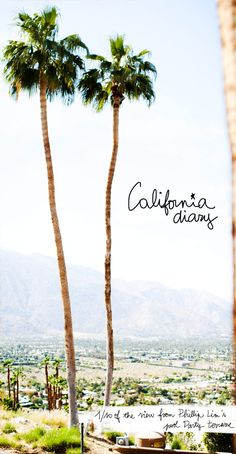 soCal Sunshine Palm Trees and the Ocean breeze...  this is on our to do list :)