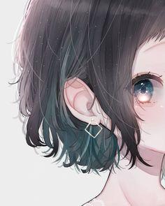Minimal, anime girl and bird, cute, 480x800 wallpaper Art Anime, Anime Neko, Anime Eyes, Anime Art Girl, Manga Anime, Loli Kawaii, Kawaii Anime Girl, Pretty Anime Girl, Beautiful Anime Girl