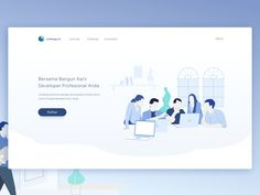 Illustration for Education Platform Website by Anggit Yuniar Pradito #Design Popular #Dribbble #shots