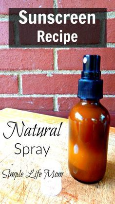 Natural Sunscreen recipe is easy, and this homemade spray sunscreen recipe is effective and nourishing to the skin. Add essential oils for extra benefit.