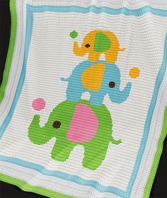 CROCHET Pattern Baby Blanket Pattern Three by PatternWorldUK