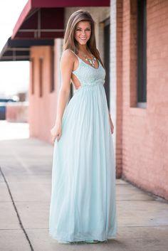 Take My Hand Maxi Dress, Mint - The Mint Julep Boutique