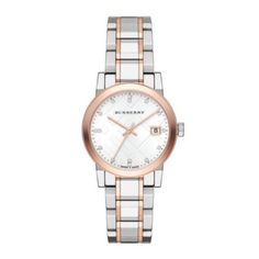 18c3265976f306 Burberry Watch, Women's Swiss Diamond Accent Two-Tone Stainless Steel  Bracelet - Women's Watches - Jewelry & Watches - Macy's