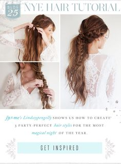 """Love the braid with the """"charmsies"""" Boho Hairstyles, Pretty Hairstyles, Vintage Updo, Braids With Curls, Styling Tools, Fishtail, Hair Dos, Hair Inspiration, Hair Makeup"""
