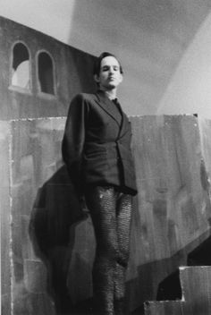 "Ingmar Bergman as Duncan in the first ""Macbeth"" that he directed, Mäster Olofsgården Theatre, Stockholm, 1939"