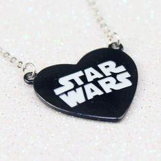 Women's Star Wars logo heart necklace from Disney Parks ⭐️ Star Wars fashion ⭐️ Geek Fashion ⭐️ Star Wars Style ⭐️ Geek Chic ⭐️