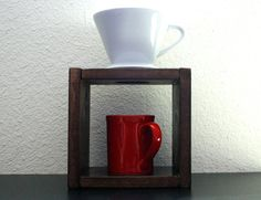 Pour Over Coffee Stand. Ceramic Filter. Rustic. by TheHouseCrafts
