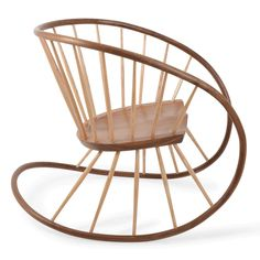 Award winning furniture designer Katie Walker, who also produced Prince George's high chair, has turned her talents to this contemporary Windsor rocking chair. Inspired by traditional chair-making techniques, the design features trademark Windsor style spindles and ash frame, steam-bent in two planes to create a one-off piece.