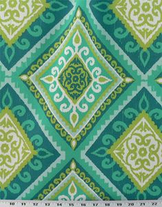 Terrasol Spanish Tile Peacock - Indoor / Outdoor | Online Discount Drapery Fabrics and Upholstery Fabric Superstore! $8.98 per yard