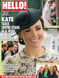 HELLO! (@hellomag) on Twitter:  Hello! magazine cover for July 11, 2016, features the Duchess of Cambridge with the Duke and Prince Harry and the Prince of Wales with Lady Alexandra Knatchbull