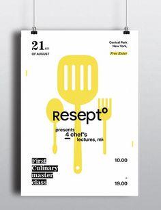 Resepto by Anastasia Bakusheva -- Event Poster Design Inspiration, Examples & Templates -- Event Poster Design Ideas & Templates Graphic Design Projects, Graphic Design Typography, Graphic Design Art, Book Design, Cover Design, Print Design, Event Poster Template, Event Poster Design, Poster Design Inspiration