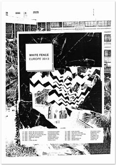 White Fence Europe Tour Poster - Comet Substance