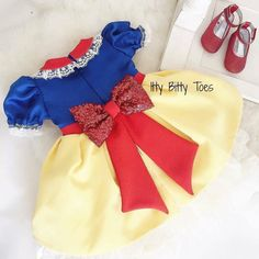 Toddler Pageant Dresses, Glitz Pageant Dresses, Baby Girl Dresses, Toddler Dress, Baby Dress, Party Dresses, Snow White Outfits, Snow White Dresses, Baby Girl Birthday Dress