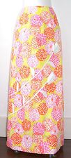 Lilly Pulitzer Vintage The Lilly Long Floral Maxi Skirt White Applique Flower XS
