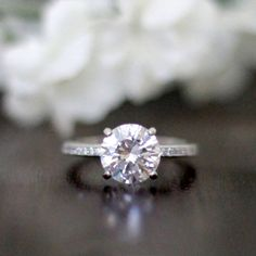 3.25CTW Brilliant Cut Simulated Diamond 925 Sterling Silver with Gold Wedding Engagement Ring     FREE Shipping Worldwide     http://fashjewels.de/ring-for-women-3-25ctw-brilliant-cut-simulated-diamond-s925-sterling-silver-with-gold-engagement-wedding-rings-art-dec-bague/