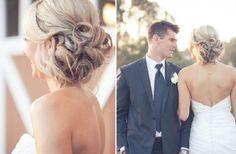 coiffure mariée chignon bas romantique