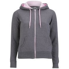Brave Soul Women's Adrian Zip Through Contrast Hoody ($9.42) ❤ liked on Polyvore featuring tops, hoodies, jackets, cotton zip hoodie, zipper hoodies, zippered hooded sweatshirt, zip hoodie and zip hoodies
