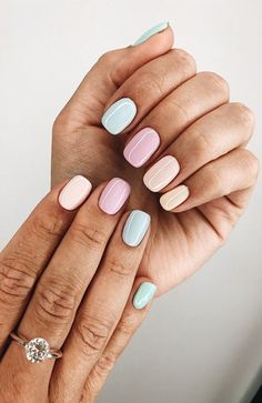 """If you're unfamiliar with nail trends and you hear the words """"coffin nails,"""" what comes to mind? It's not nails with coffins drawn on them. It's long nails with a square tip, and the look has. Cute Acrylic Nails, Cute Nails, Pretty Nails, Pastel Nail Art, Pastel Nail Polish, Nail Polish Trends, Summer Nail Polish Colors, Pastel Pink Nails, Acrylic Toes"""