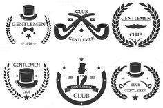 Gentlemen club Set logo by pashigorov shop on Creative Market