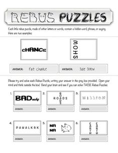 A Power Point Presentation of 15 Rebus Puzzles with Answers. To ...