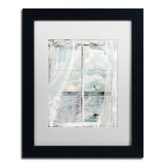 "Trademark Art 'Summer Me III' Framed Painting Print Size: 14"" H x 11"" W x 0.5"" D, Mat Color: White"