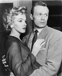 #MarilynMonroe and #RichardWidmark in %Don'tBrotherToKnock, 1952.