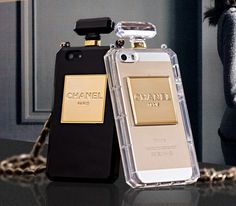 Chanel Bottle iphone 4G case iphone 5s by stevefashiondesigner, $20.00