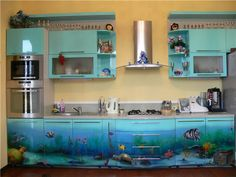 Kitchen in a marine style.
