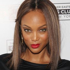 Tyra Banks is loving the red lip this season! Get her tips on how to love your body more in the coming year in this interview with SHAPE magazine.
