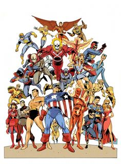 Timely Comics characters by Anthony Castrillo. Great art. Cool golden age marvel characters!