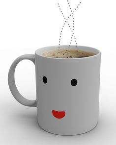 Like so many of us in the morning, the Morning Mug can't wake up until it gets its cup of coffee. Designed by Damion O'Sullivan, this mug displays a black sleeping face when cold. As you pour your hot coffee into the mug, the mug turns white and its happy face awakens to greet you.