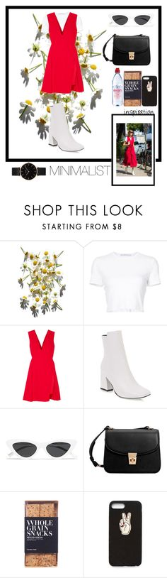 """""""Minimalist"""" by madmadry ❤ liked on Polyvore featuring Rosetta Getty, Versace, Le Specs, MANGO, Evian, Nicolas Vahé, Nasty Gal, CLUSE and everyday"""