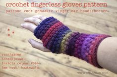 creJJtion: Fingerless Gloves Crochet Pattern