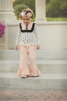 Boutique & European Children's Clothing SALE | Little Luna Blue Children's Boutique - Persnickety Fall 2013 Nob Hill Pink Bell Pants