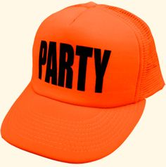 Neon Orange Party Hat