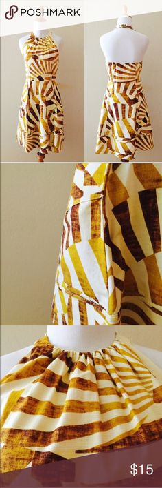 Jessica Simpson Tribal Printed Dress . Bought here in Poshmark, beautiful dress but not my real size 😔 (photos from the previous owner)  Yellow dress  Condition 10/10 EUC  ORIGINAL PRICE $70    If you want more photos, just ask me ;)  Smoke and pet free house!  If you want to bundle I can make a special price for you ;)      Tag Anthropologie Forever 21 ZARA Free People H&M Jessica Simpson Dresses Midi
