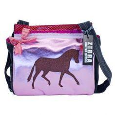 Tas kids Canvas Paard roze