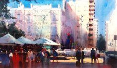 Alvaro Castagnet, TITLE: ALMERIA, Spain, 113 cm x 67 cm  Álvaro Castagnet  #alvarocastagnet #acuarela #watercolor #galeriadeartetrinotortosa #ventadearte
