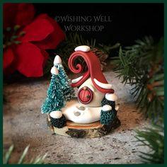 Polymer Clay Mini Winter Fairy House-Wishing Well Workshop