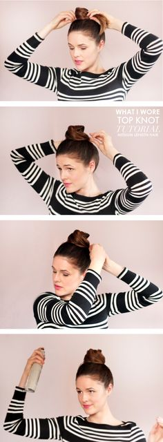high bun -- looks like it could ALMOST be Katie mistake proof...