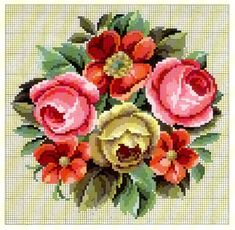 Photo Beaded Cross Stitch, Cross Stitch Flowers, Cross Stitch Charts, Cross Stitch Patterns, Butterfly Embroidery, Folk Embroidery, Black And White Flower Tattoo, Diy Projects To Try, Pattern Making